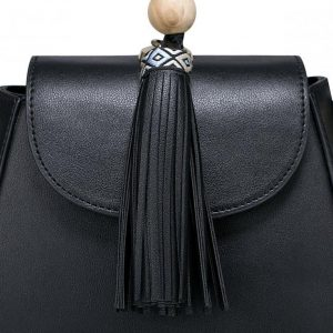 Saszetka Etno z modnym frędzlem czarna