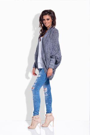 Elegancki sweter narzutka