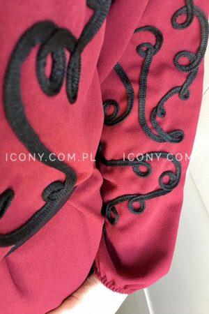 Sukienka oversize esy-floresy bordo