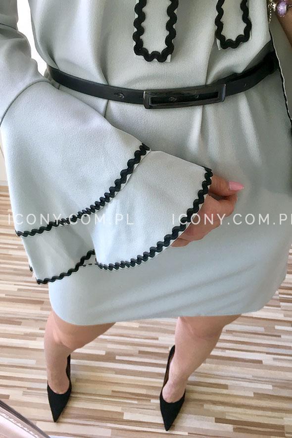 Sukienka wiązana pod szyją szara