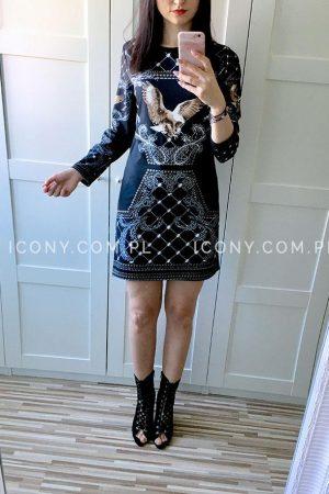 Czarna sukienka włoska Eagle