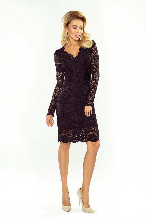 bfdab5645ec552 Sukienka koronkowa wieczorowa czarna - ICONY