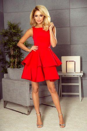 Sukienka na wesele rozkloszowana czerwona