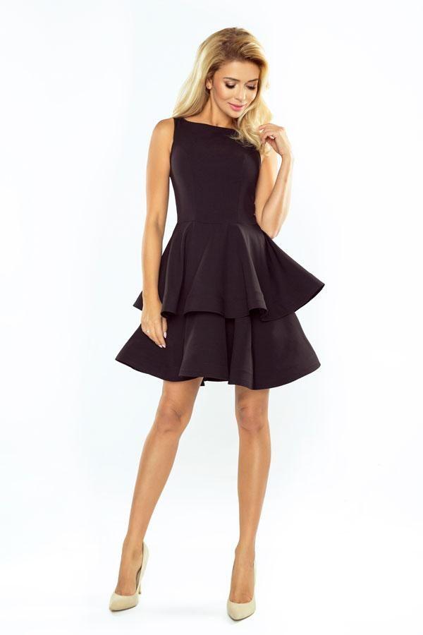 Sukienka wieczorowa rozkloszowana czarna