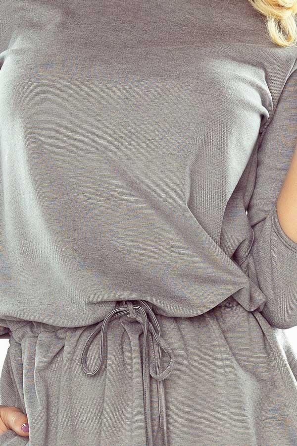 Sukienka z wiązaniami na rękawkach