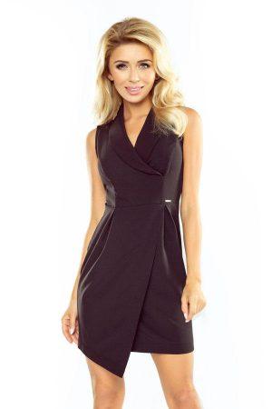 Sukienka z kołnierzem czarna