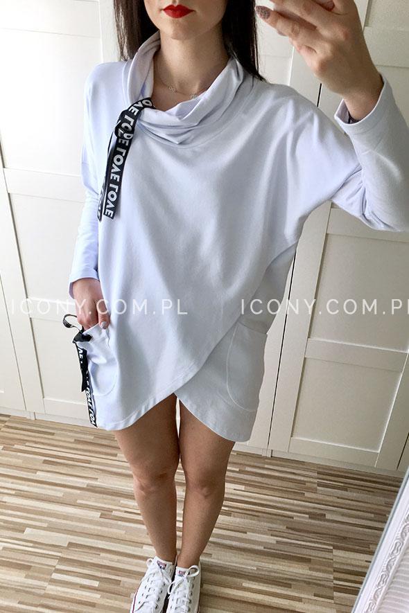 Bluza asymetryczna biała Love