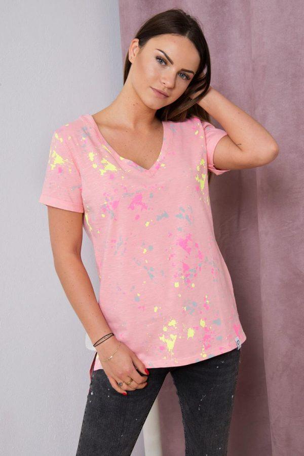 Koszulka Kleks brzoskwinia