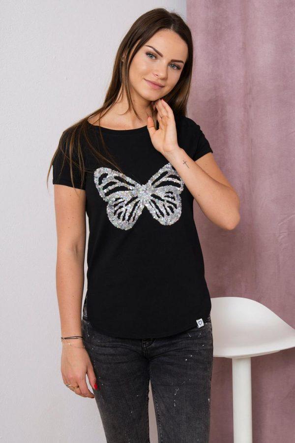 Koszulka Motyl cekiny