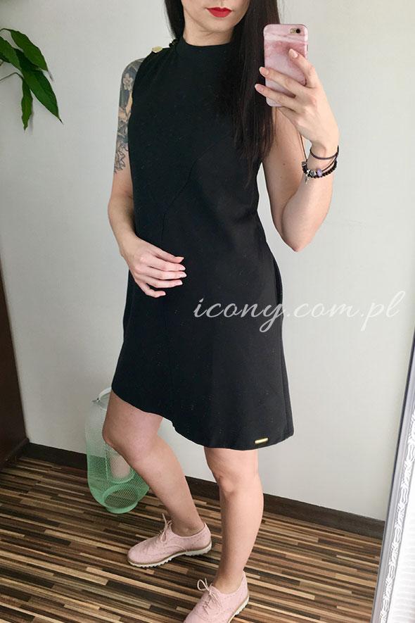 Sukienka czarna bawełniana