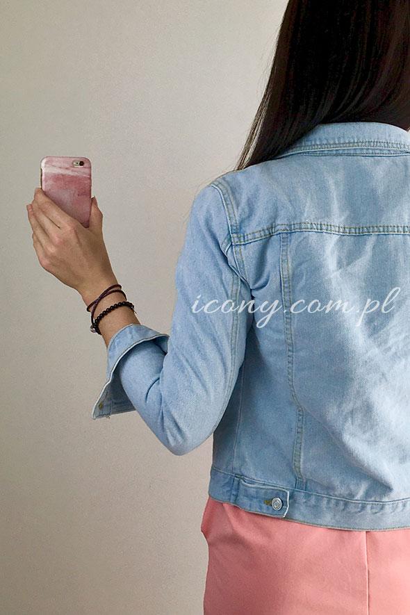 Kurtka jeansowa jasnoniebieska tył