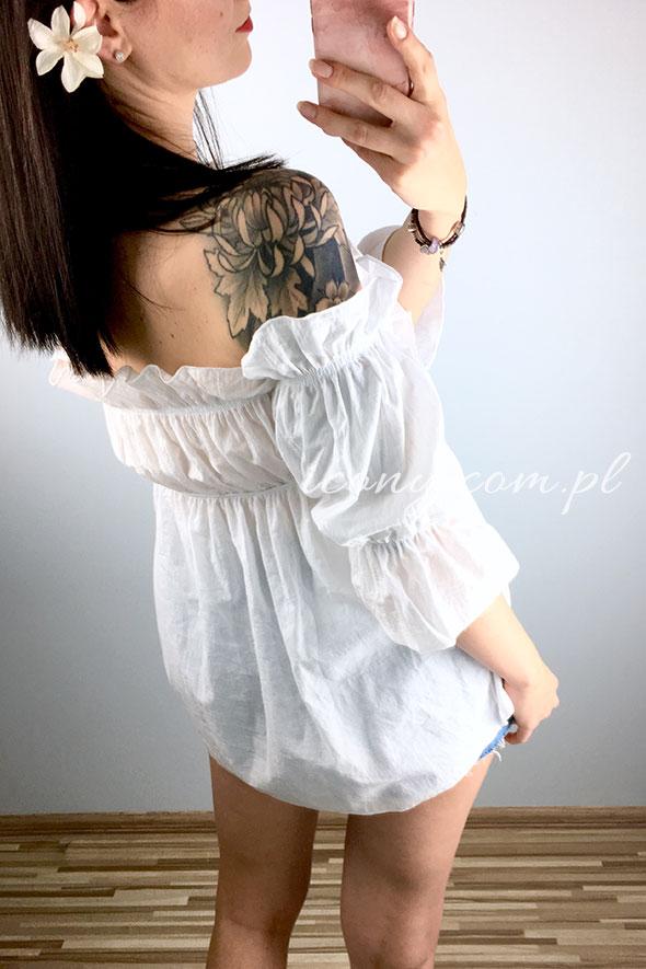 Bluzka hiszpanka biała tył